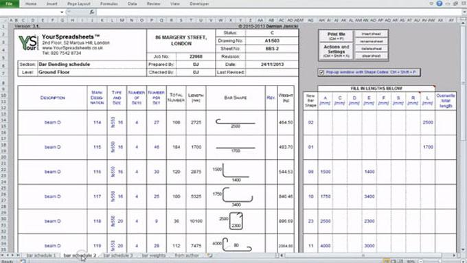 How To Calculate Reinforcement | Bar Bending Schedule Spreadsheet